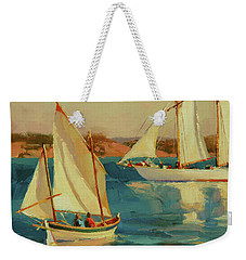 Weekender Tote Bag featuring the painting Outing by Steve Henderson