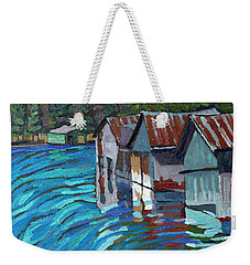 Outlet Row Of Boat Houses Weekender Tote Bag