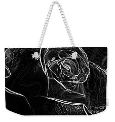 Weekender Tote Bag featuring the photograph Outline Of A Rose by Micah May
