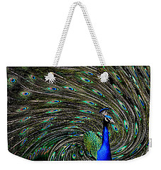 Outrageous Peacock Weekender Tote Bag