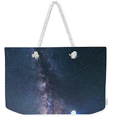Weekender Tote Bag featuring the photograph Outshining The Day by Alex Lapidus