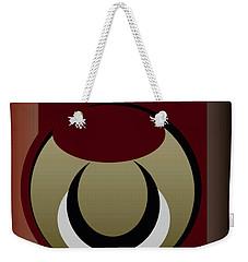 Weekender Tote Bag featuring the digital art Outside The Box by John Krakora