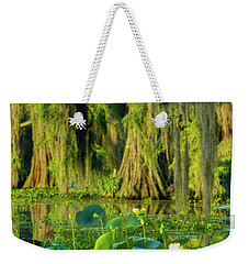 Outstanding Lotus Weekender Tote Bag