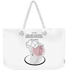 Weekender Tote Bag featuring the digital art Outwitted by John Haldane