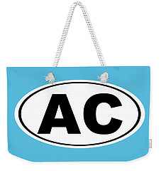 Weekender Tote Bag featuring the photograph Oval Ac Atlantic City New Jersey Home Pride by Keith Webber Jr