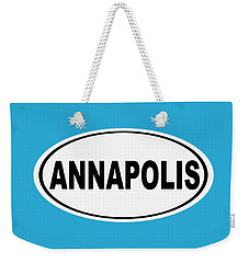 Weekender Tote Bag featuring the photograph Oval Annapolis Maryland Home Pride by Keith Webber Jr