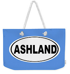 Weekender Tote Bag featuring the photograph Oval Ashland Oregon Or Ohio Home Pride by Keith Webber Jr