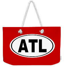 Weekender Tote Bag featuring the photograph Oval Atl Atlanta Georgia Home Pride by Keith Webber Jr