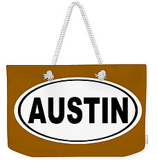 Weekender Tote Bag featuring the photograph Oval Austin Texas Home Pride by Keith Webber Jr
