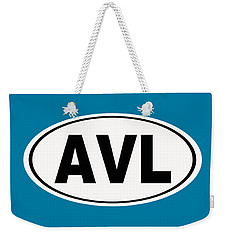 Weekender Tote Bag featuring the photograph Oval Avl Asheville North Carolina Home Pride by Keith Webber Jr