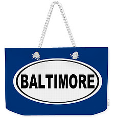 Weekender Tote Bag featuring the photograph Oval Baltimore Maryland Home Pride by Keith Webber Jr
