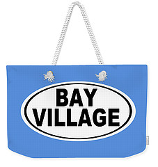 Weekender Tote Bag featuring the photograph Oval Bay Village Ohio Home Pride by Keith Webber Jr