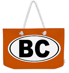 Weekender Tote Bag featuring the photograph Oval Bc Boulder City Colorado Home Pride by Keith Webber Jr