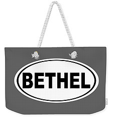 Weekender Tote Bag featuring the photograph Oval Bethel Connecticut Home Prid by Keith Webber Jr