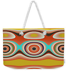 Weekender Tote Bag featuring the digital art Ovals And Circles Pattern Design by Jessica Wright