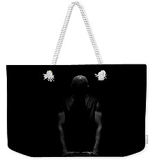 Weekender Tote Bag featuring the photograph Over Me by Eric Christopher Jackson