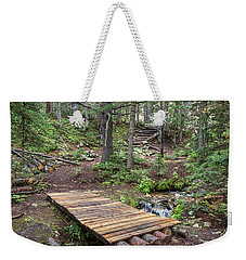 Weekender Tote Bag featuring the photograph Over The Bridge And Through The Woods by James BO Insogna