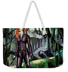 Weekender Tote Bag featuring the painting Over The Bridge by James Christopher Hill