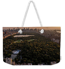 Over The City Central Park Weekender Tote Bag by Anthony Fields
