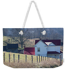 Over The Hill And Down The Road - Pastel Weekender Tote Bag