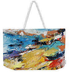 Weekender Tote Bag featuring the painting Over The Hills And Far Away by Elise Palmigiani