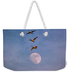 Over The Moon Weekender Tote Bag