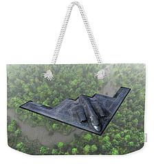Over The River And Through The Woods In A Stealth Bomber Weekender Tote Bag