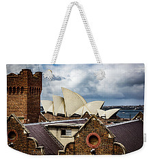 Weekender Tote Bag featuring the photograph Over The Roof Tops by Perry Webster