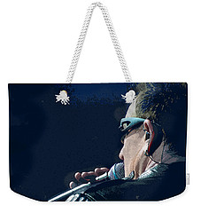 Over The Shoulder Of Bono Weekender Tote Bag
