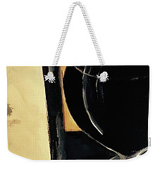 Weekender Tote Bag featuring the painting Over The Top by Lisa Kaiser