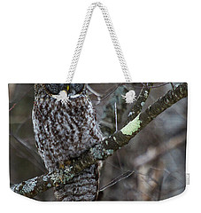 Over There- Great Gray Owl Weekender Tote Bag