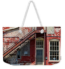 Weekender Tote Bag featuring the photograph Over Under The Stairs by Christopher Holmes
