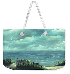 Weekender Tote Bag featuring the painting Overcast by Anastasiya Malakhova