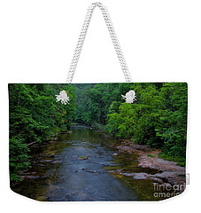 Weekender Tote Bag featuring the photograph Overflow Creek by Barbara Bowen