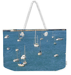 Overlooking A Miami Marina Weekender Tote Bag by Margaret Bobb