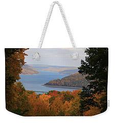 Weekender Tote Bag featuring the photograph Overlooking Kinzua Lake by Rick Morgan
