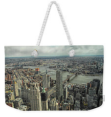 Overlooking Manhattan's East River  Weekender Tote Bag