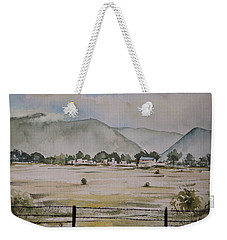 Overlooking The Hills Weekender Tote Bag