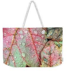 Overnight Rain Leaves Weekender Tote Bag