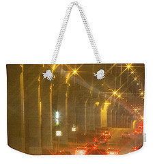 Weekender Tote Bag featuring the photograph Overpass Traffic by Linda Phelps