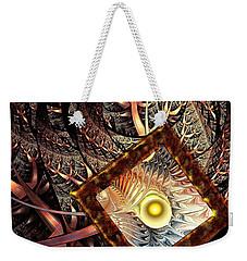 Weekender Tote Bag featuring the digital art Overton Window by Anastasiya Malakhova