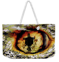 Weekender Tote Bag featuring the digital art Overwhelmed Remember Him by Ernie Echols