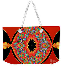 Unique And Colorful Orange Black Yellow Design Weekender Tote Bag