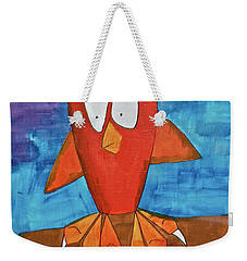 Weekender Tote Bag featuring the painting Owel by Donna Howard