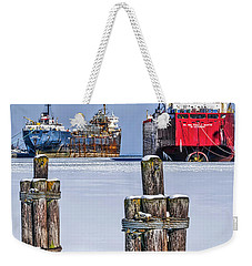 Owen Sound Winter Harbour Study #4 Weekender Tote Bag