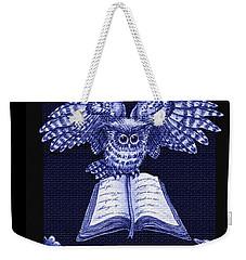 Owl And Friends Indigo Blue Weekender Tote Bag