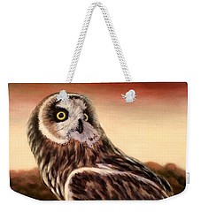 Owl At Sunset Weekender Tote Bag