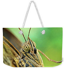 Owl Butterfly Close Up Weekender Tote Bag
