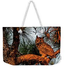 Owl In The Very Last Sunset Light Weekender Tote Bag