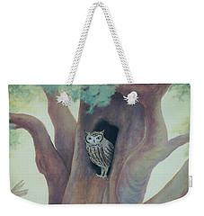 Owl In Tree Weekender Tote Bag